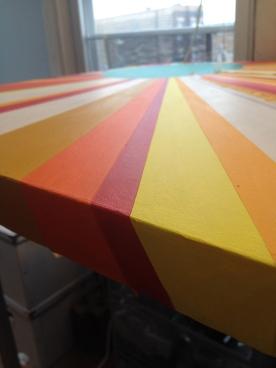 Sunburst in progress
